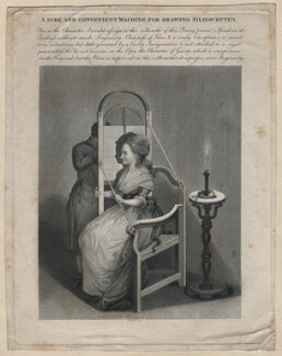 'A sure and convenient Machine for drawing Silhouettes', by Thomas Holloway - NPG D16510