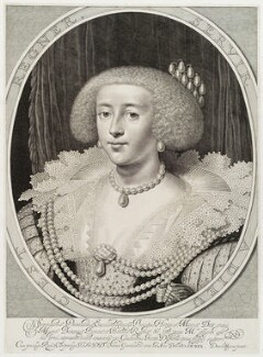 Henrietta Maria, by Willem Jacobsz Delff, after  Daniel Mytens - NPG D19461