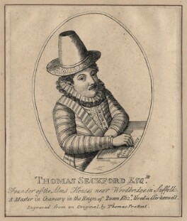 Thomas Seckford, by Thomas Prattent, after  Unknown artist - NPG D16516