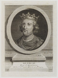 King Henry III, by Pierre François Basan, after  George Vertue - NPG D19473