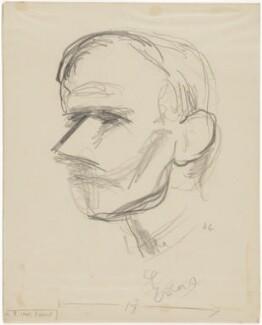 (Benjamin) Ifor Evans, Baron Evans of Hungershall, by Henryk Gotlib - NPG D13610