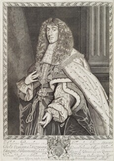 King James II, by Robert White, published by  John Overton - NPG D19485