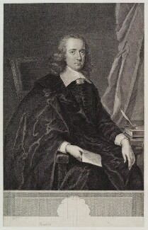 John Thurloe, by George Vertue, after  Unknown artist - NPG D19506