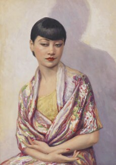 Anna May Wong, by Dorothy Wilding, hand-coloured by  Beatrice Johnson, 1929 - NPG x44636 - © William Hustler and Georgina Hustler / National Portrait Gallery, London