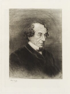 Benjamin Disraeli, Earl of Beaconsfield, by Georges Labadie Pilotell, published 1878 - NPG D19527 - © National Portrait Gallery, London