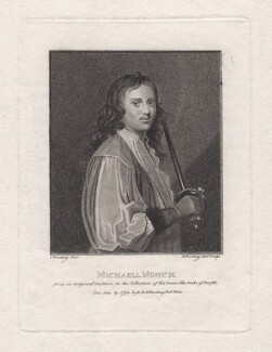 Michael Mohun, by Edward Harding, published by  E. & S. Harding, after  Silvester Harding - NPG D16531