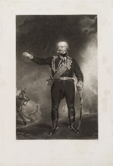 Gebhard Leberecht von Blücher, by Charles Edward Wagstaff, published by  Hodgson & Graves, after  Sir Thomas Lawrence - NPG D19541