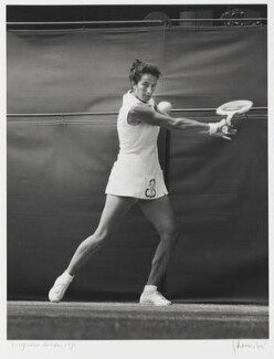 Virginia Wade, by J.S. Lewinski - NPG P1067