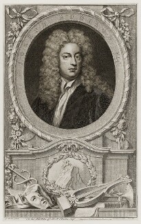 Joseph Addison, by Jacobus Houbraken, published by  John & Paul Knapton, after  Sir Godfrey Kneller, Bt, published 1748 - NPG D19551 - © National Portrait Gallery, London