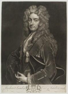Richard Lumley, 2nd Earl of Scarbrough, by John Faber Jr, after  Sir Godfrey Kneller, Bt - NPG D19555