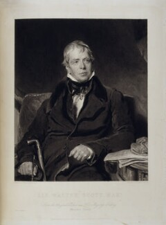 Sir Walter Scott, 1st Bt, by John Henry Robinson, printed by  Lloyd & Henning, published by  Moon, Boys & Graves, after  Sir Thomas Lawrence,  - NPG D19563 - © National Portrait Gallery, London