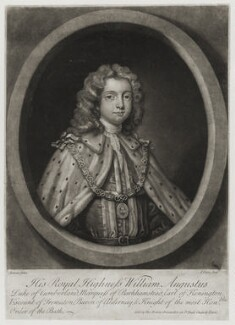 William Augustus, Duke of Cumberland, by John Faber Jr, published by  Thomas Bowles Jr, after  Charles Jervas - NPG D19579