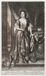 Louise de Kéroualle, Duchess of Portsmouth, by Isaac Beckett, published by  Edward Cooper, after  Sir Godfrey Kneller, Bt, 1681-1688 - NPG D19582 - © National Portrait Gallery, London