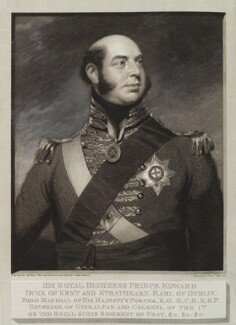 Prince Edward, Duke of Kent and Strathearn, by and published by William Skelton, after  Sir William Beechey, published 1815 (1814-1815) - NPG D19586 - © National Portrait Gallery, London