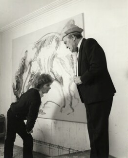 Maggi Hambling; Max Wall, by Prudence Cuming, 21 December 1982 - NPG x126500 - © National Portrait Gallery, London