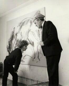 Maggi Hambling; Max Wall, by Prudence Cuming, 21 December 1982 - NPG x126500 - © National Portrait Gallery, London