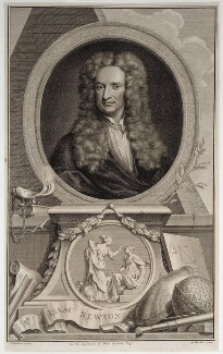 Sir Isaac Newton, by Jacobus Houbraken, after  Sir Godfrey Kneller, Bt, (1702) - NPG D19601 - © National Portrait Gallery, London