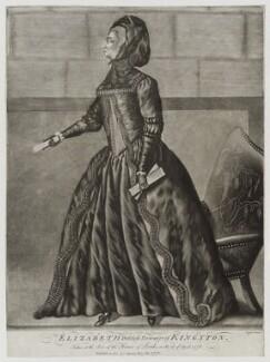 Elizabeth Pierrepont (née Chudleigh, later Hervey), Duchess of Kingston, by Isaac Taylor - NPG D19607