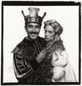 John Alderton; Janet McTeer, by Trevor Leighton - NPG x35354