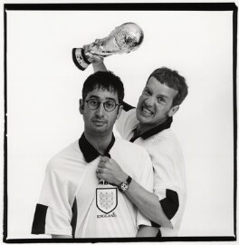 David Baddiel; Frank Skinner, by Trevor Leighton, May 1998 - NPG x87551 - © Trevor Leighton / National Portrait Gallery, London
