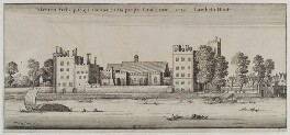 'Lambeth House', by Wenceslaus Hollar - NPG D19616
