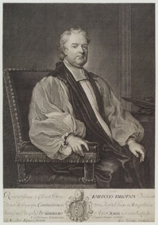 John Tillotson, by George Vertue, after  Sir Godfrey Kneller, Bt - NPG D19625