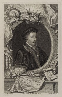 Henry Howard, Earl of Surrey, by George Vertue, probably after  Hans Holbein the Younger, 1747 - NPG D19628 - © National Portrait Gallery, London