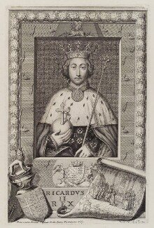 King Richard II, by George Vertue, after  Unknown artist - NPG D19630