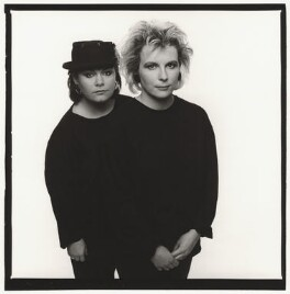 Dawn French; Jennifer Saunders, by Trevor Leighton - NPG x35343