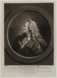 King George II, by Richard Houston, sold by  Robert Sayer, and sold by  Thomas Jefferys, after  Thomas Worlidge - NPG D19636