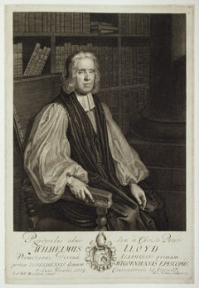 William Lloyd, by George Vertue, after  Friedrich Wilhelm Weidemann - NPG D19637