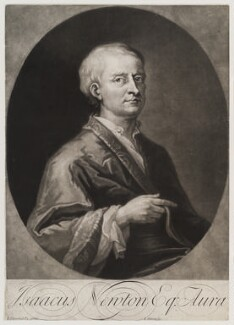 Sir Isaac Newton, by and published by John Simon, after  Sir James Thornhill, circa 1700-1725 - NPG D19639 - © National Portrait Gallery, London