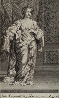 Queen Anne, by Peter Vanderbank (Vandrebanc), possibly after  Sir Peter Lely, 1684 - NPG D19644 - © National Portrait Gallery, London