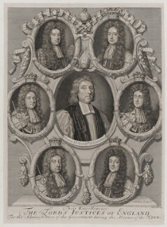'Their Excellencies the Lords Justices of England, for the administration of the Government during the absence of the King', by Robert White - NPG D19654