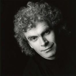 Simon Rattle, by Trevor Leighton - NPG x87077