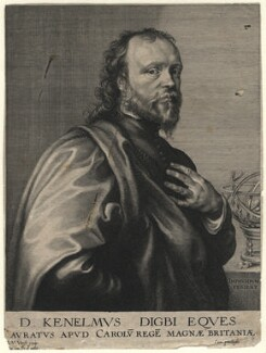 Sir Kenelm Digby, by Robert van Voerst, after  Sir Anthony van Dyck - NPG D16555