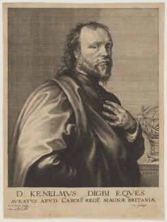 Sir Kenelm Digby, by Robert van Voerst, after  Sir Anthony van Dyck - NPG D16556