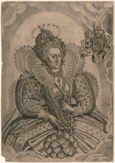 Queen Elizabeth I, by Francis Delaram, after  Nicholas Hilliard, published 1630 - NPG D16561 - © National Portrait Gallery, London