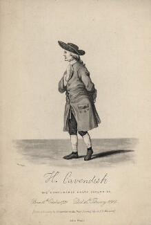 Henry Cavendish, probably by Christian Rosenberg, published by  John Weale, after  William Alexander, early 19th century - NPG D16591 - © National Portrait Gallery, London