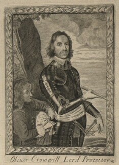 Oliver Cromwell and an unknown page, after Robert Walker - NPG D16565
