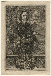 Oliver Cromwell and an unknown page, by Jan L'Admiral, after  Robert Walker - NPG D16566