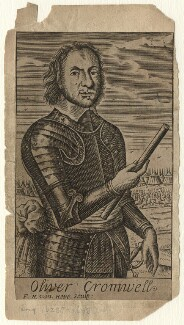 Oliver Cromwell, by Frederick Hendrik van Hove, after  Robert Walker - NPG D16567