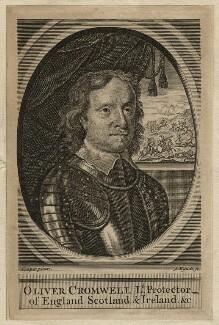 Oliver Cromwell, by James Mynde, after  Samuel Cooper - NPG D16571