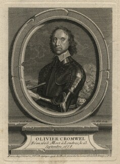 Oliver Cromwell, by Johan Georg Wille (Will), after  Robert Walker - NPG D16583