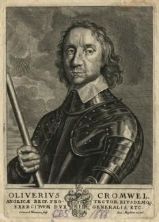 Oliver Cromwell, by Conrad Waumans (Woumans), after  Robert Walker - NPG D16585