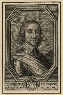 Oliver Cromwell, by Frederik Bouttats the Younger, after  Robert Walker - NPG D16572