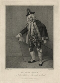 John Quick as Don Lewis in 'Love Makes a Man', by Jean Condé, published by  Thomas Palser, after  Samuel De Wilde - NPG D16596