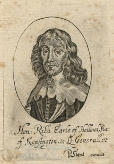 Henry Rich, 1st Earl of Holland, published by Peter Stent, after  Sir Anthony van Dyck - NPG D16599