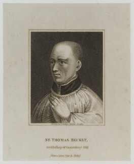 Thomas Becket, published by Edward Baldwyn, after  Wenceslaus Hollar - NPG D19673