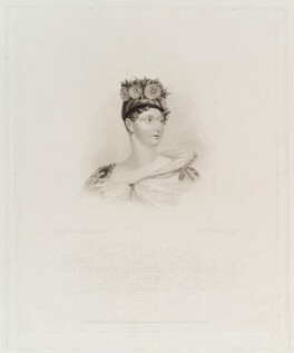 Princess Charlotte Augusta of Wales, by Robert Cooper, published by  Rudolph Ackermann, after  Alfred Edward Chalon - NPG D19683